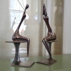 Aharon Bezalel Conversation Metal Sculpture Great Finds and Design Pewaukee WI