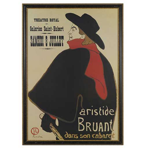 Aristide Bruant at His Cabaret Reproduction Poster Great Finds and Design Pewaukee