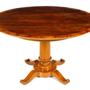 Biedermeier Walnut Center Table | Great Finds & Design | Pewaukee | Shop
