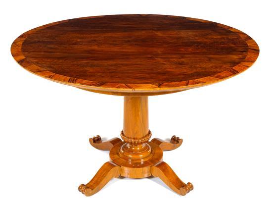 Biedermeier Walnut Center Table | Great Finds & Design | Pewaukee | Shop