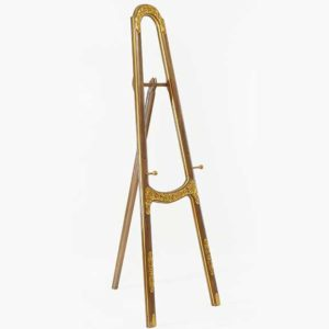 Carved and Gold Painted Mohogany Easel