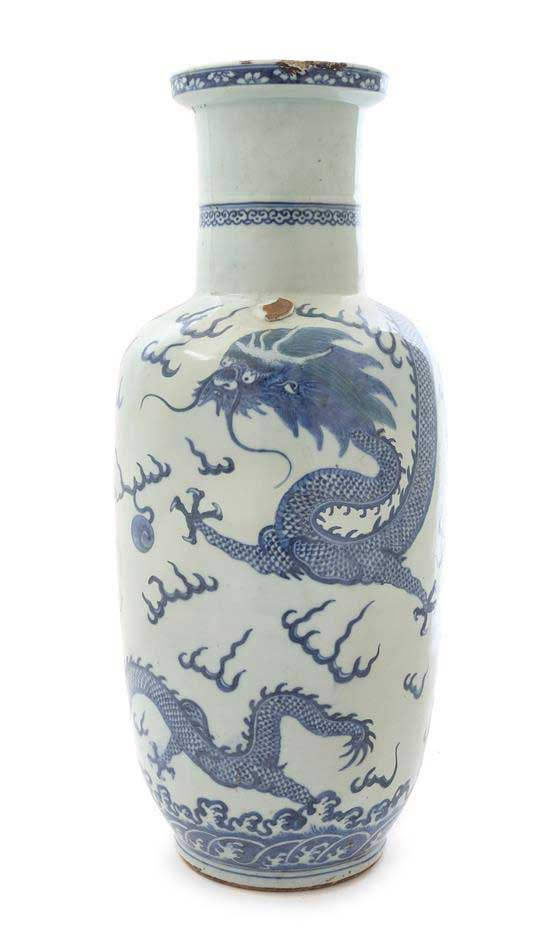 Chinese Blue and White Porcelain Vase Great Finds and Design Antiques
