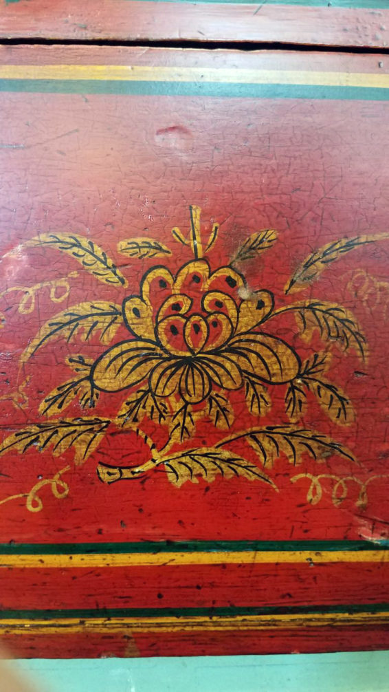 Chinese Scroll Box Red Great Finds and Design Pewaukee Antique Furniture