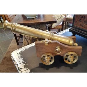 Decorative Brass Cannon