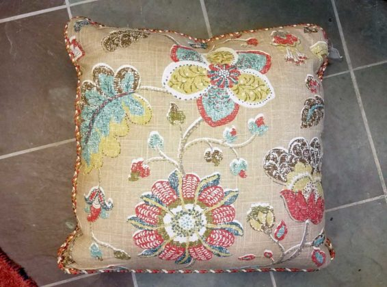 Floral and Khaki Decorative Pillow Great Finds and Design Pewaukee