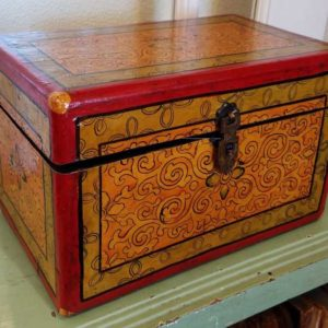 Hand Painted Tibetan Box Great Finds and Design Antiques Pewaukee 2