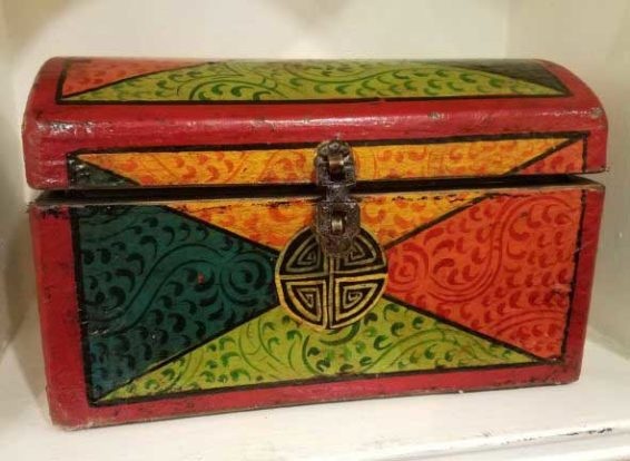 Hand Painted Tibetan Box Great Finds and Design Antiques Pewaukee