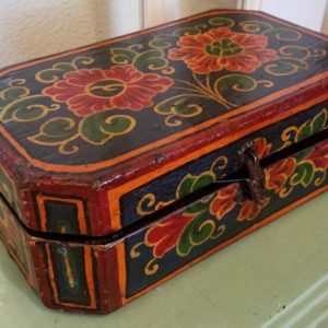 Hand Painted Tibetan Box Pewaukee Gifts and Antiques Great Finds and Design