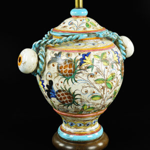 Italiante Faience Glazed Table Lamp | Great FInds & Design | Pewaukee Antiques