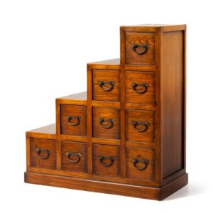 Japanese Stepped Tansu Chest | Great Finds and Design | Pewaukee Antiques