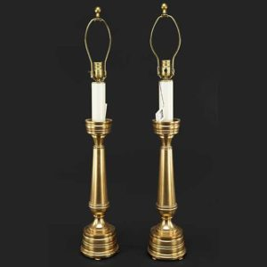Lang Levin Bronze Table Lamps