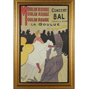 Moulin Rouge La Goulue Reproduction Poster Great Finds and Design Pewaukee WI
