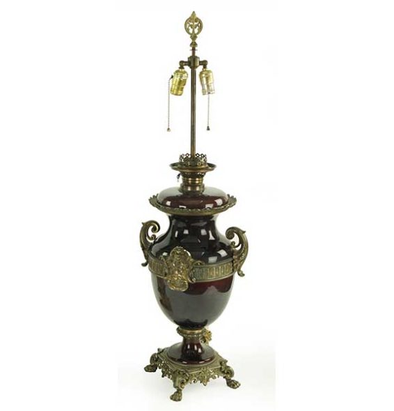 Ormolu Mounted Ceramic Lamp Pewaukee Antiques Great Finds and Design