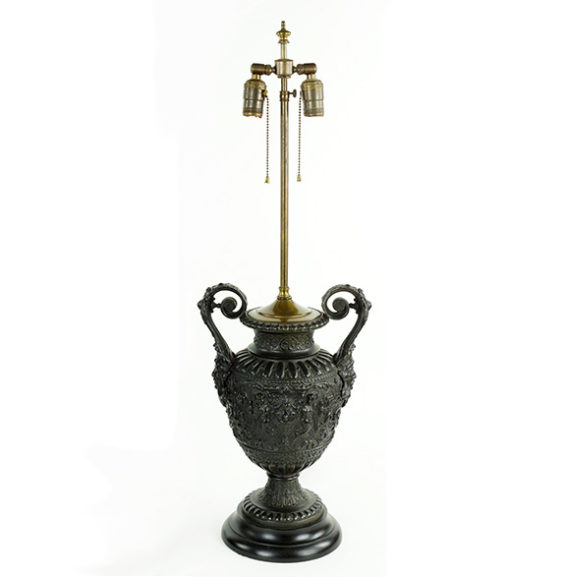 Ornate Metal Table Lamp | Great Finds & Design Pewaukee, WI | Antiques
