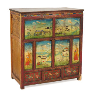 Painted Thai Wood Chest | Pewaukee Antiques | Great Finds & Design