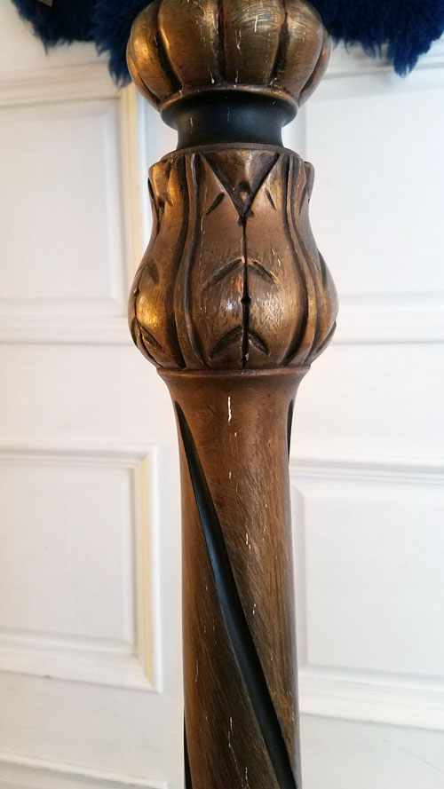 Painted and Parcel Gilt Floor Lamp | Antique Lighting | Pewaukee, WI