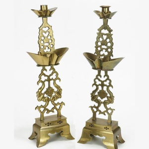 Pair of Brass Candlesticks Pewaukee Antiques and Gifts