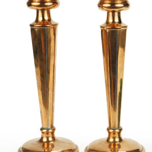Pair of Jos Heinrichs Candlesticks Pewaukee WI Antiques Great Finds and Design