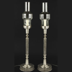 Pair of Stainless Steel Table Lamps Great Finds and Design Pewaukee WI