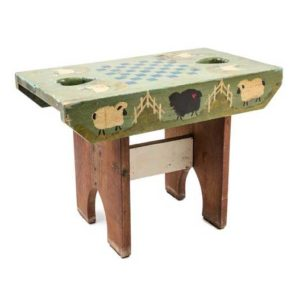 Rustic Style Painted Child's Bench