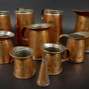 Set of 10 Copper Vessels