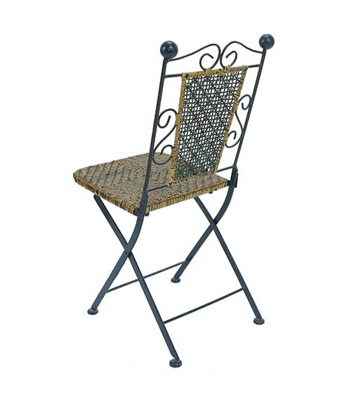 Set of Six Bistro Chairs Wicker Great Finds and Design Pewaukee Furniture