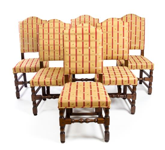 Wondrous Set Of Six William And Mary Style Oak Dining Chairs Caraccident5 Cool Chair Designs And Ideas Caraccident5Info