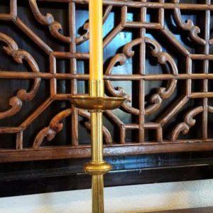 Single Tall Brass Candlestick