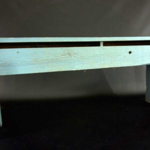 Tall Rustic Blue Bench
