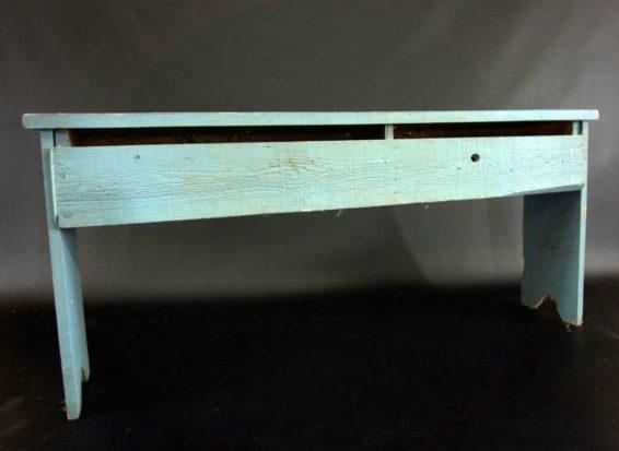 Tall Rustic Blue Bench