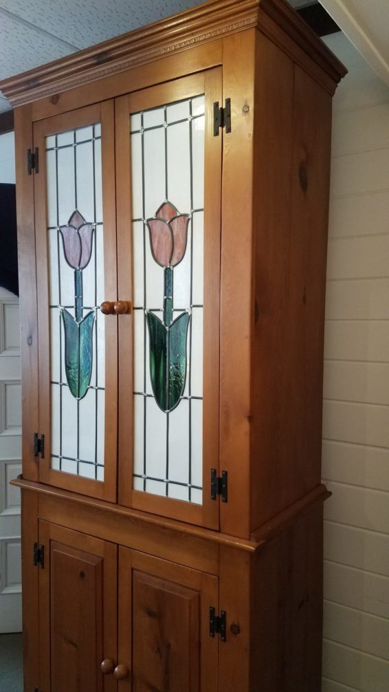 Tulip Armoire Antique | Cabinet Great Finds and Design Pewaukee
