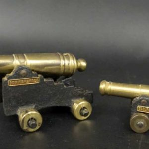 Two Miniature Brass Cannons