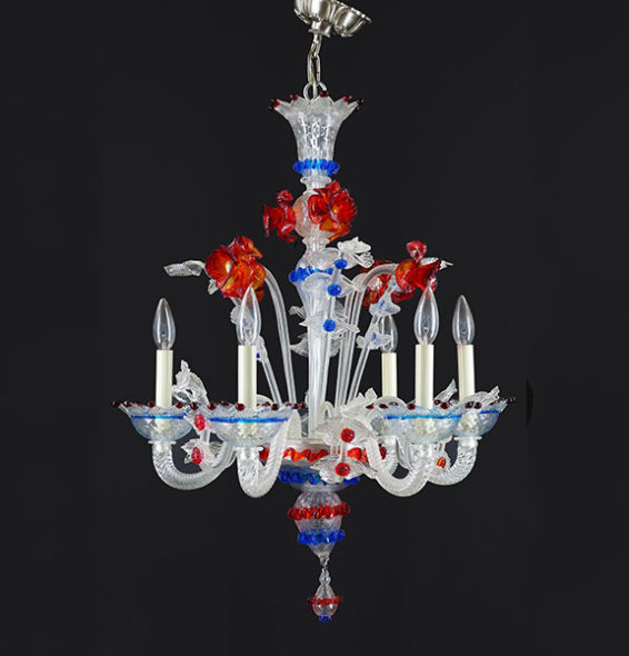 Venetian Glass Chandelier | Antique Lighting | Pewaukee, WI