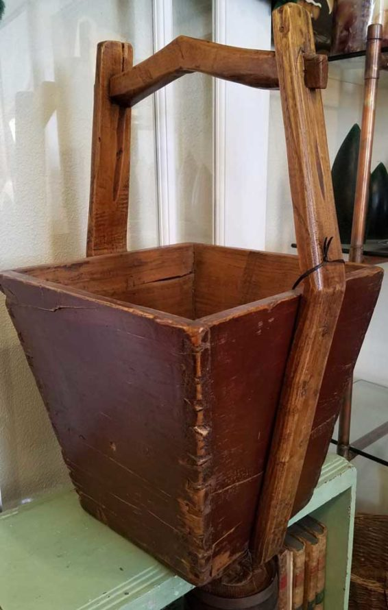 Wooden Kindling Bucket Great Finds and Design Antiques and GIfts