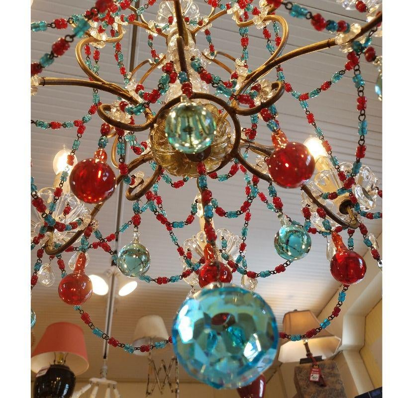antique-clear-and-colored-crystal-6-light-chandelier-2403